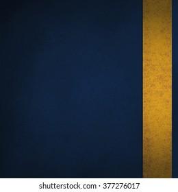 blue background with gold sidebar ribbon stripe