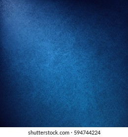 blue background with luxury abstract corner light or shining spotlight design with black gradient borders, vintage grunge texture, elegant dark colors
