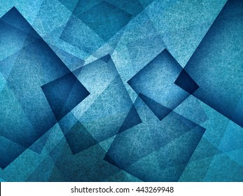 blue background with rectangle and diamond shapes in transparent layers floating in the sky, cool artsy background design