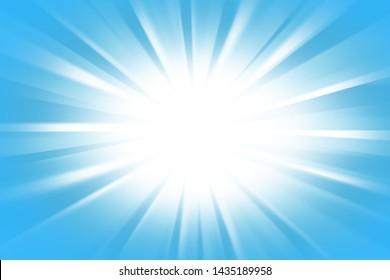 Blue Background With Sun Burst