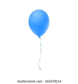 Blue balloon icon isolated on white background