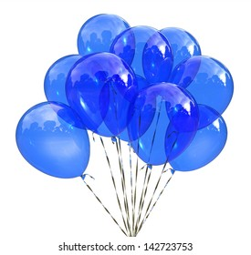 Blue balloons for celebration