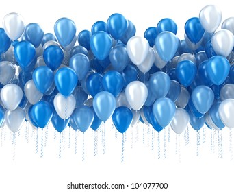 Blue balloons isolated