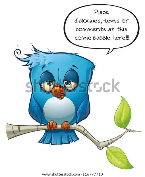 Blue Bird Tired
