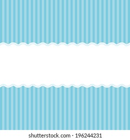 Blue birth announcement or baby shower invitation card background for a newborn boy.