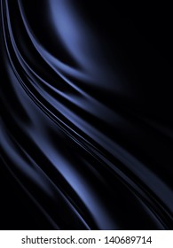 blue black silk as background