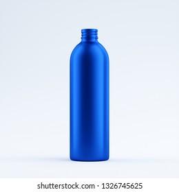 blue blank aluminum bottle isolated on a limbo