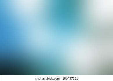 Blue blurred background.