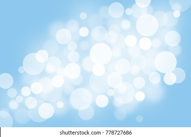 Blue bokeh background abstract