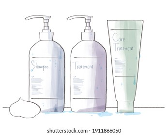 Blue bottle hair care 3-piece set