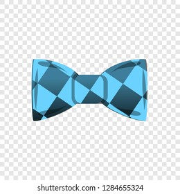 Blue bowtie icon. Cartoon of blue bowtie icon for web design for web design
