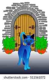 blue cat cat