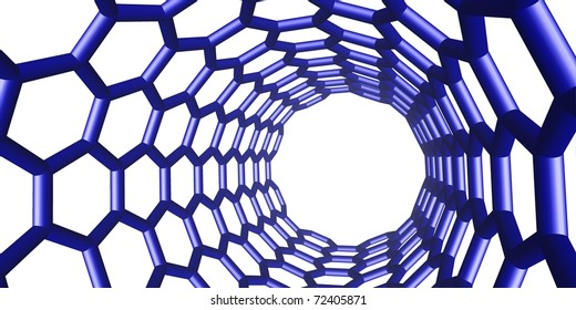 blue chemical structure on white