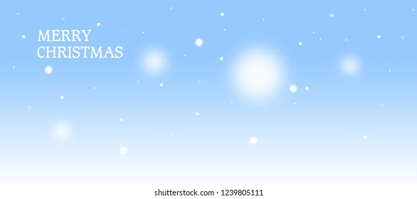 Blue Christmas Background with white Snow Flakes.