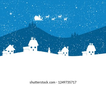 Blue christmas background.Happy new year background.Card design for holyday.