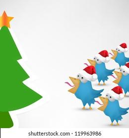 Blue Christmas bird celebrate Christmas