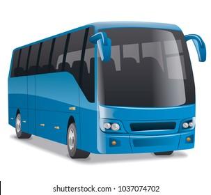 blue city bus