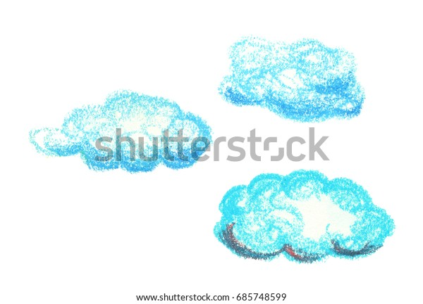 Oil Pastel Turquoise Blue