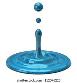 Blue color drop