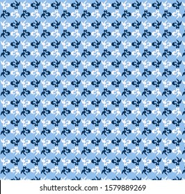 Blue  color,  mixed pattern , original design and digital drawing. It can be used in web, wallpaper, ceramic and fabric designs