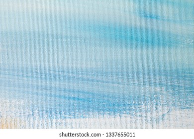 Blue colored canvas background or texture
