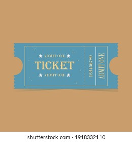 Blue colored ticket invitation to concert,