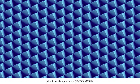 blue cubes pattern low polygon geometric background 3d illustration