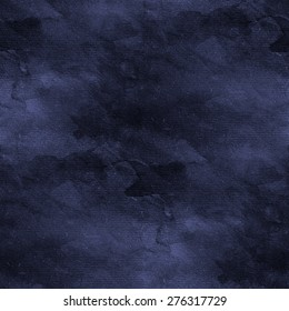 blue dark watercolor stained pattern, abstract seamless background
