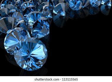 blue diamond on black