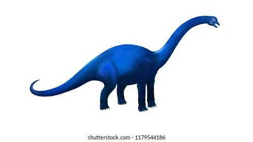 Blue Dinosaur Brachiosaurus or Apatosaurus