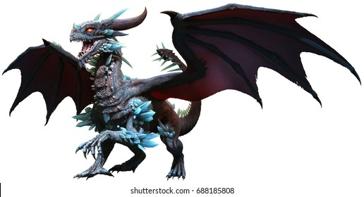 Blue Dragon 3D illustration