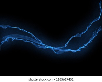Blue Electric Lightning