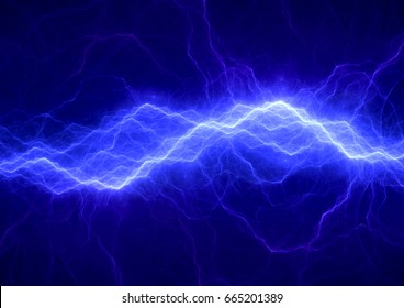 Blue electrical background, abstract lightning