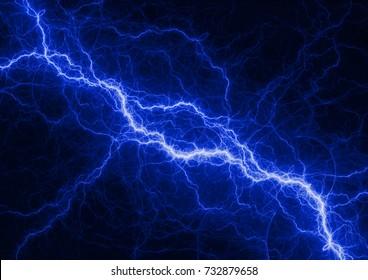 Blue electrical background, plasma and lightning design