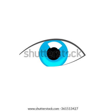 Blue Eye Abstract Symbol Illustration Flat Stock Illustration