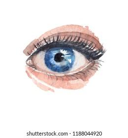 Blue eye watercolor