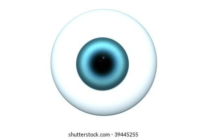blue eyeball isolated
