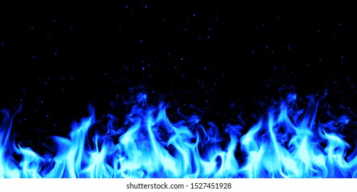 Blue fire wall concpet design. illustration.