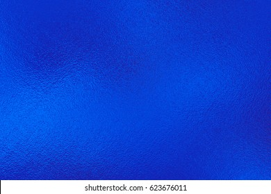 Blue foil texture, metal background
