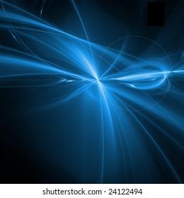 blue fractal curves