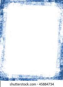 Blue frame with grunge edges