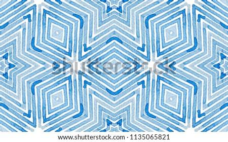Blue Geometric Watercolor Admirable