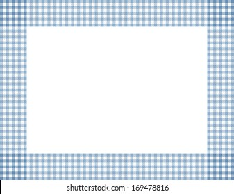 Blue Gingham Background with center isolated for copy-space, Blue Gingham Frame