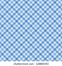 Blue Gingham Fabric Background that is seamless and repeats