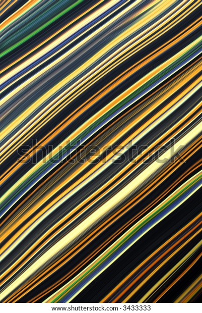 Blue, gold and green lines