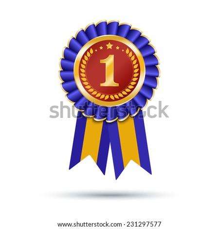 blue gold ribbons award isolated on stock illustration 231297577