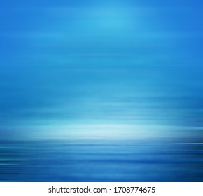 blue gradient abstract studio room with soft smooth shiny space for displaying product.