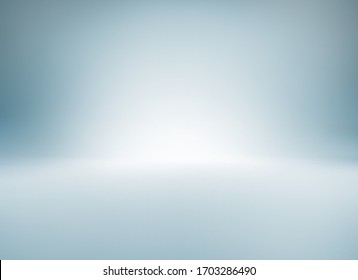 Blue gray white light gradient empty studio room backdrop wallpaper abstract background blurred. use for showcase or product your. copy space for text