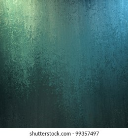 blue and green abstract background with lighting and sponge texture and copy space for ad or brochure text