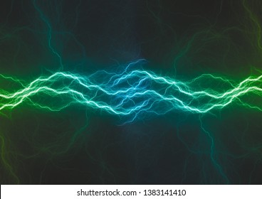 Blue and green abstract electrical background